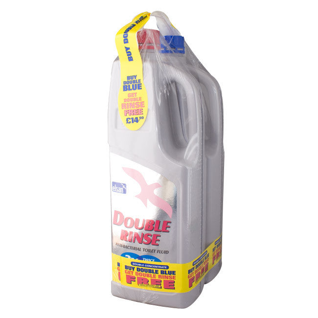 Elsan 2L Double Blue and Double Rinse Twin Pack