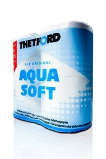 Thetford Aquasoft Toilet Paper for Chemical Toilets (1 x 4 Pack)-Tamworth Camping