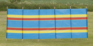 Quest 6 Pole Multicoloured Windbreak-Tamworth Camping