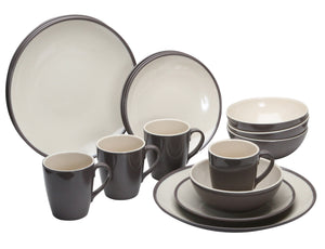 Quest Burslem 16 Piece Melamine Dinner Set-Tamworth Camping