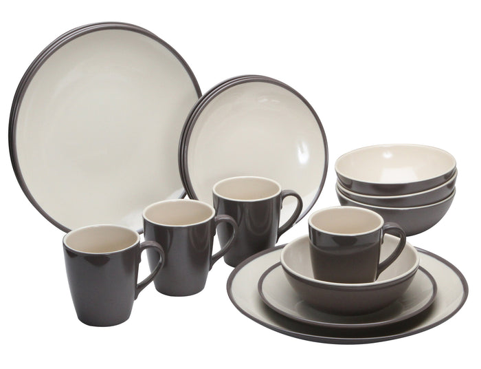 Quest Burslem 16 Piece Melamine Dinner Set