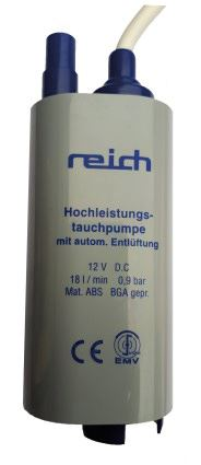 Reich Submersible pump 18L with auto-matic vent