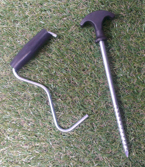 Kampa Bivvy Peg Pack 18 x Screw peg 20 cm + peg puller-Tamworth Camping