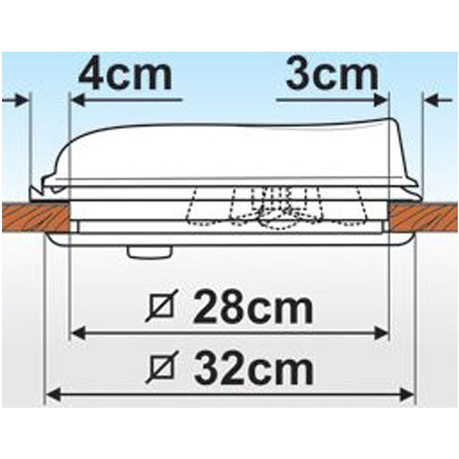 Fiamma Vent 28 White Caravan And Motorhome Rooflight 04918