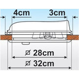 Fiamma Vent 28 White Caravan and Motorhome Rooflight 04918-01-Tamworth Camping