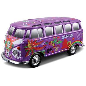 VW Bus Samba Hippie Line Toy-Tamworth Camping
