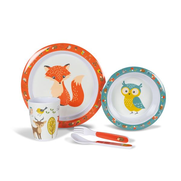 Kampa Woodland Creatures Childrens Melamone Set
