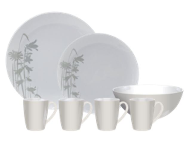 Kampa Meadow Heritage 16 Piece Melamine Set