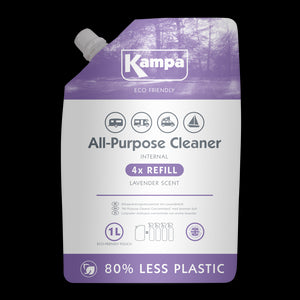 Kampa Eco Friendly Interior All Purpose Cleaner 1L Refill Pouch-Tamworth Camping