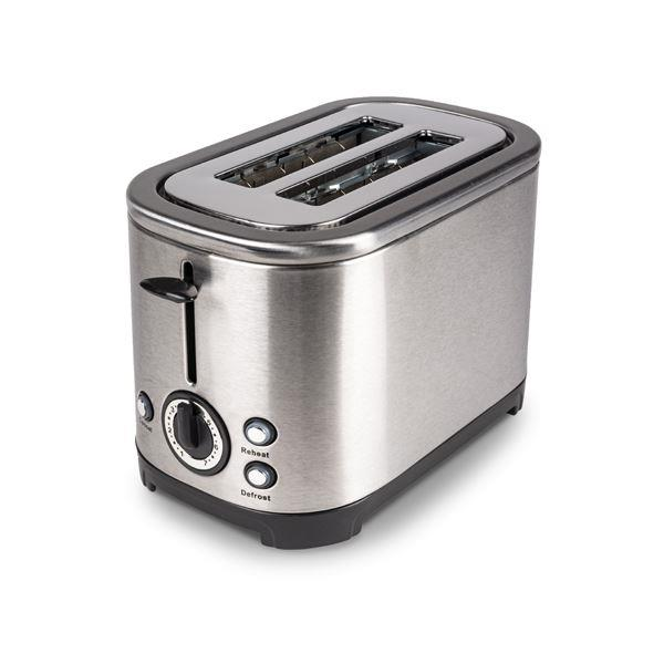 Kampa Deco Stainless Steel 2 Slice Toaster - Low Wattage