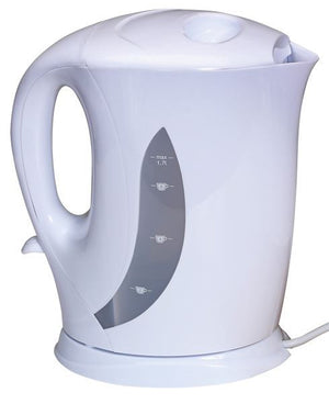 Quest 1.7L White low wattage kettle-Tamworth Camping