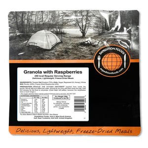 Expedition Foods Granola with Raspberries (450kcal) - Regular Serving-Tamworth Camping