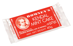 Romneys Kendal Mint Cake 50g SMALL - BROWN BAR-Tamworth Camping
