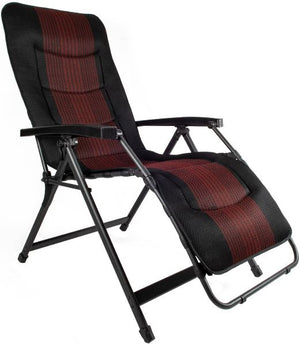 Westfield Avantgarde Aeronaught relaxer in deluxe red stripe-Tamworth Camping