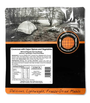 Expedition Foods Vegan Couscous with Cajun Spices and Vegetables (450kcal) - Regular Serving-Tamworth Camping