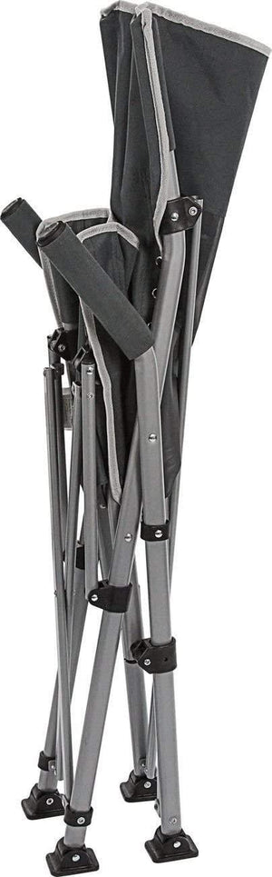 Brunner Raptor Folding Chair in Charcoal and Black-Tamworth Camping