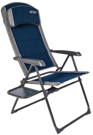 Quest Ragley Pro Recline chair with side table-Tamworth Camping