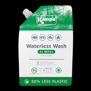 Kampa Eco Friendly Waterless Wash 1L Refill Pouch-Tamworth Camping