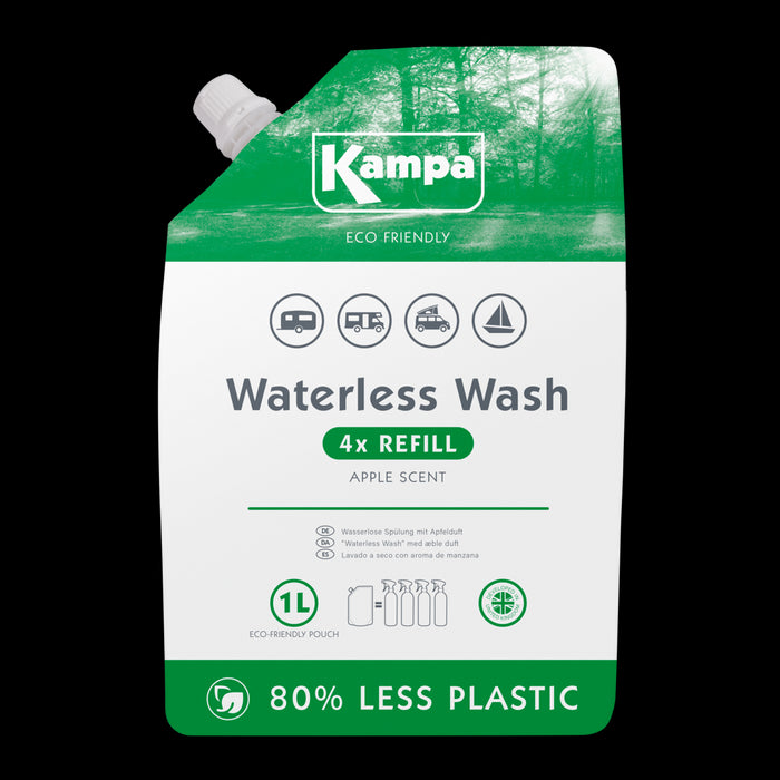 Kampa  Eco Friendly Waterless Wash 1L Refill Pouch