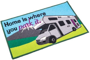 Washable home is where you park it (motor home) mat-Tamworth Camping