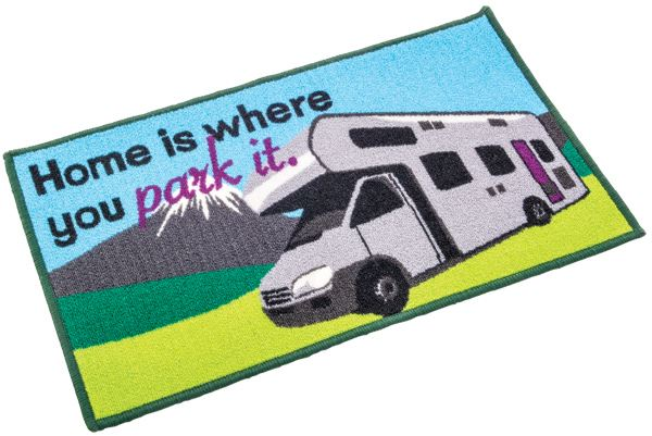 Washable home is where you park it (motor home) mat