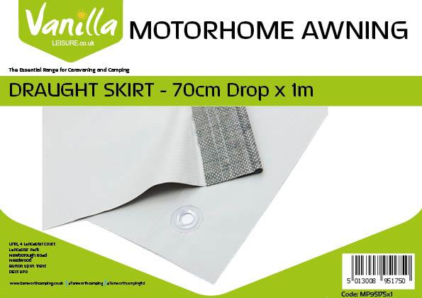 Caravan and Motorhome Awning Draught Skirt 70cm (2ft 3In) Drop