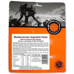 Expedition Foods Mediterranean Vegetable Pasta (800kcal) High Energy Serving-Tamworth Camping