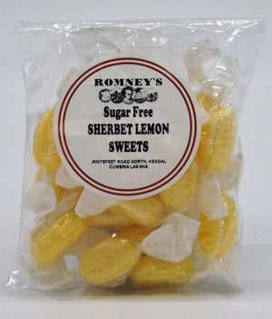 Romneys Sugar Free Traditional Lakeland Sweety Basket (E) - 4 Packets. (Sherbert Lemons, Rhubarb and Custard, Mintoes, Devon Toffees)-Tamworth Camping