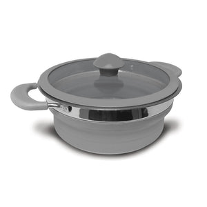 Kampa Folding Saucepan 1.5 Litre Grey-Tamworth Camping