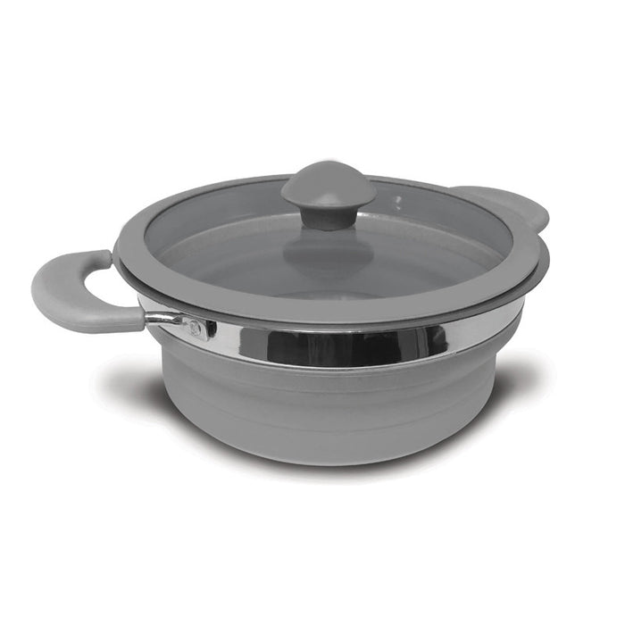 Kampa Folding Saucepan 1.5 Litre Grey
