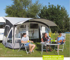 Kampa Fiesta Air Pro 280 Inflatable Caravan Awning-Tamworth Camping