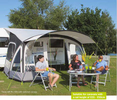 Kampa Fiesta Pro Air 2017 Inflatable Caravan Porch Awning