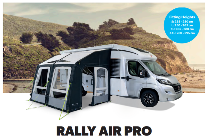 Kampa Dometic Motor Rally 330 AIR Pro Range of Motorhome Awnings 2020