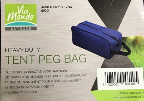 Via Mondo Heavy Duty Peg Bag