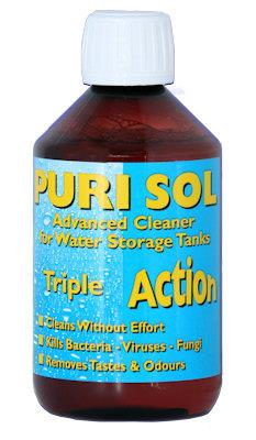 Purisol Water System Cleaner, Steriliser and Deodoriser 300ml Bottle-Tamworth Camping