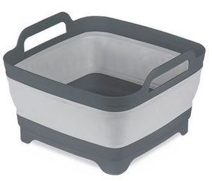 Kampa Collapsible Washing Bowl With Straining Plug - Grey-Tamworth Camping