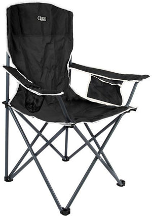 Quest Festival chair in black-Tamworth Camping
