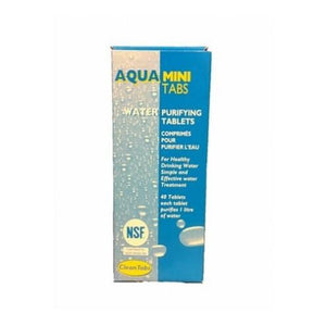 Aqua Clean Mini Tabs - Box Of 40 Tabs 1 Tablet Cleans 1L-Tamworth Camping