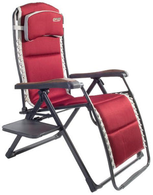 Quest Bordeaux Pro Relax XL chair with side table-Tamworth Camping