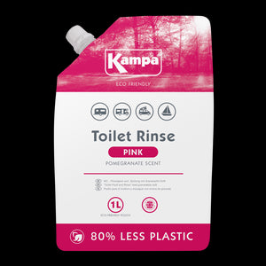 Kampa Eco Friendly Pink Toilet Fluid 1L Eco Pouch-Tamworth Camping