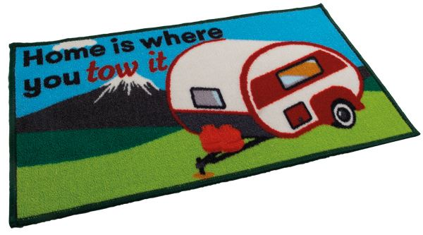 Washable home is where you tow it (caravan) mat