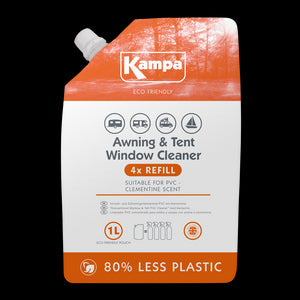 Kampa Eco Friendly Awning & Tent PVC Cleaner 1L Refill Pouch-Tamworth Camping