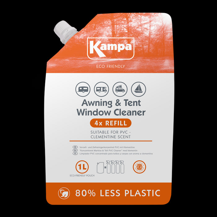 Kampa  Eco Friendly Awning & Tent PVC Cleaner 1L Refill Pouch