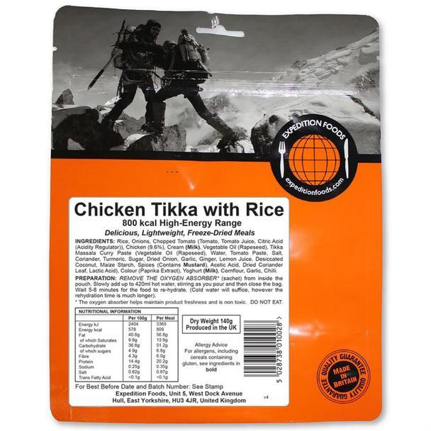Expedition Foods Chicken Tikka with Rice (800kcal) High Energy Serving