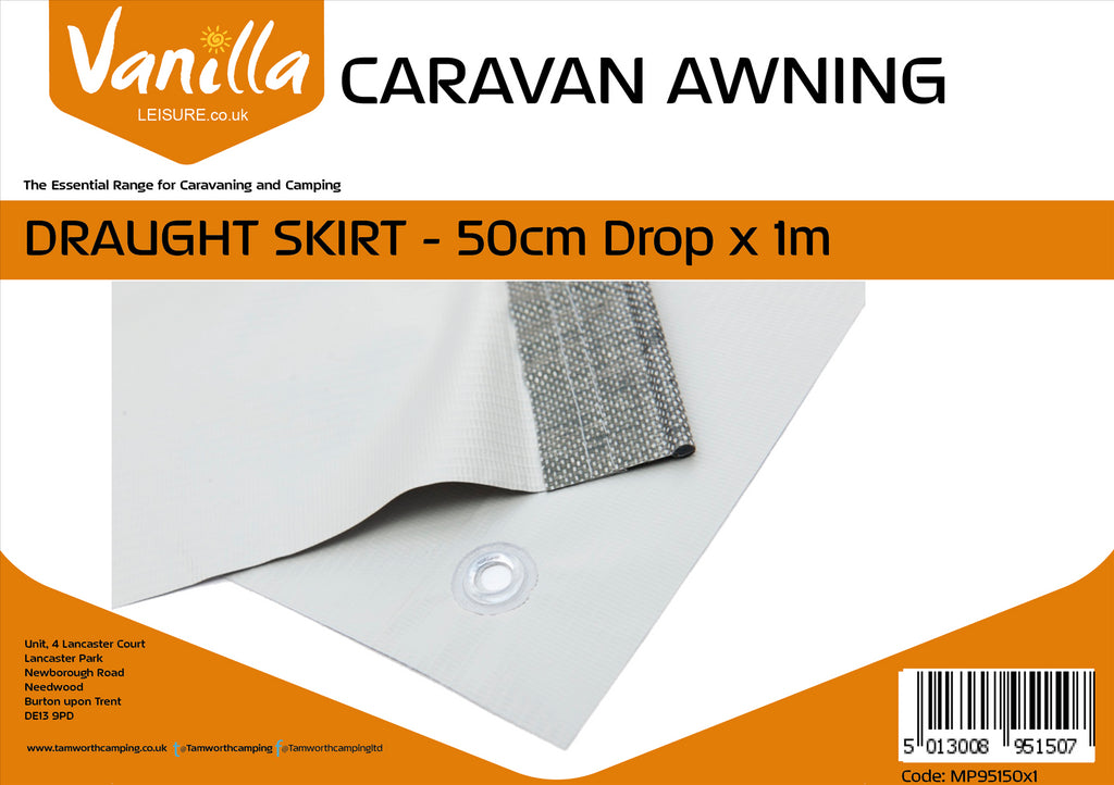Caravan Awning Draught Skirt 50cm (20 Inch Drop) Vanilla Leisure
