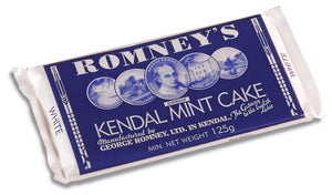 Romneys Kendal Mint Cake 125g STANDARD - WHITE BAR-Tamworth Camping