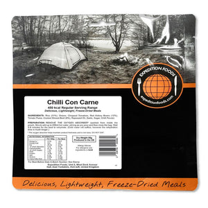 Expedition Foods Chilli Con Carne with Rice (450kcal) - Regular Serving-Tamworth Camping