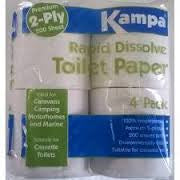 Kampa Rapid Dissolve Toilet Tissue for Chemical toilets