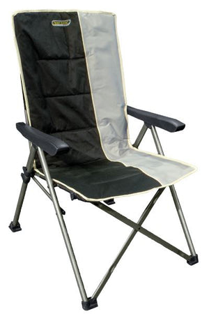 Quest Autograph Cumbria Chair in black and grey-Tamworth Camping
