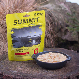 Summit to eat Custard apple crunch (Serves 1 - 424kcal - 87g)-Tamworth Camping